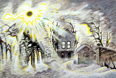 burchfield snow sunburst