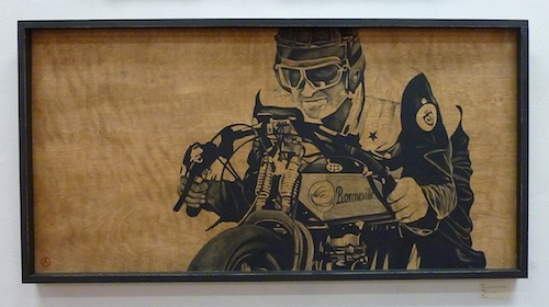 Motorcycles + Art - Allison Lear Painting - 72