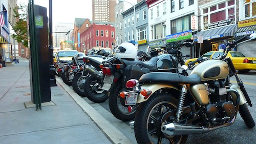 Motorcycles + Art - Opening - Sidewalk - 72
