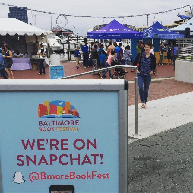 Baltimore Book Festival is happening in Baltimores Inner Harbor! bmorebookfesthellip