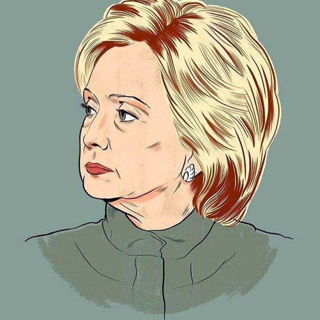 Loving this Hillary illustration by Alex Fine bmoreart alexfineillos imwithherhellip