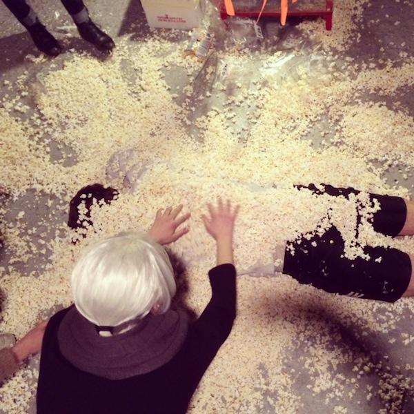 Popcorn Installation at Tank/Bodega