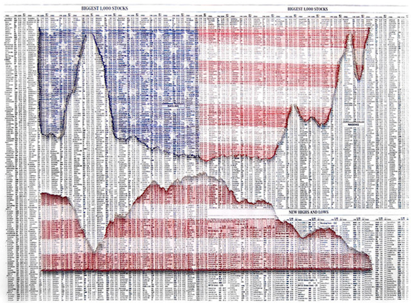 Jeremy Dean. Economics, 2014. Needles, deconstructed flag on board