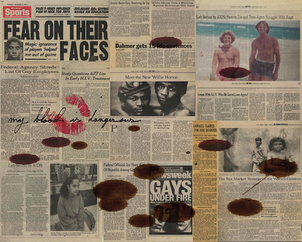 Hunter Reynolds. Fear on their Faces, 2011. Photo-weaving, c-prints and thread. 48 X 60 inches
