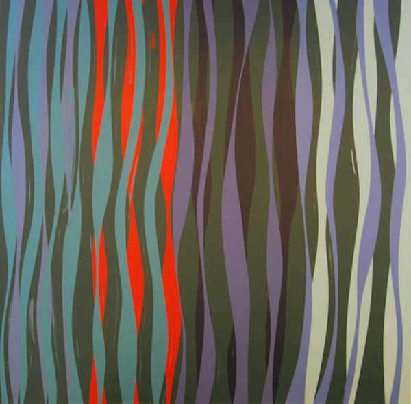 Wavelength, (Mesopelagic Three) 2014. Acrylic on Canvas. 60 x 60 inches