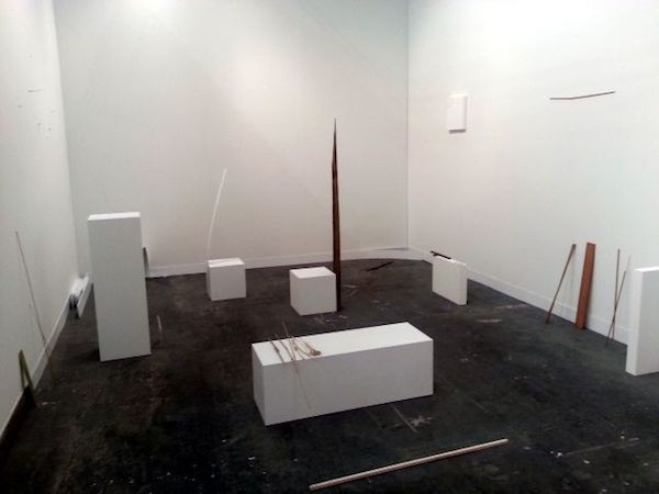 Installation by Fernanda Gomes at Alison Jacques Gallery