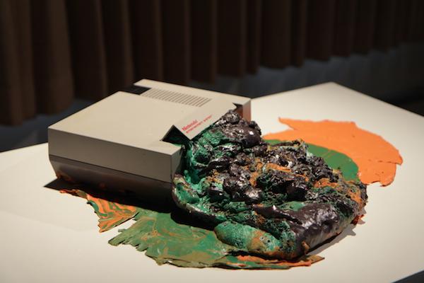 Console: Entertainment System. Broken Nintendo Entertainment System, polyurethane foam, and latex paint