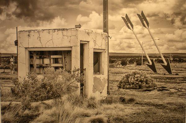 """Twin arrows Trading Post, Old Route 66 66 Winona, AZ."" Digital Print. Hal Rummel."