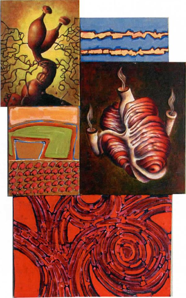 """""""Praise of Foreign Gods"""" Oil on canvas. Oswaldo Mesa."""