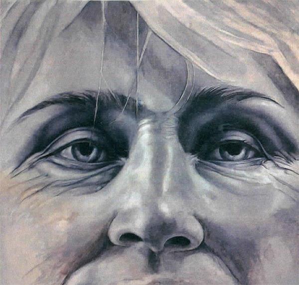 """Lyudmila."" Acrylic ond oil on panel. Nickole Buckingham Kern."