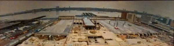 Bird's Eye View of the New York Convention Center Under Construction 1982 by Rackstraw Downes