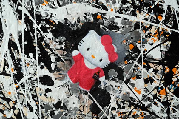 Hello Pollock (tipsy) detail