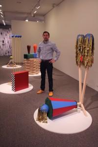 Bauer at the 2014 Sondheim Finalist Exhibition
