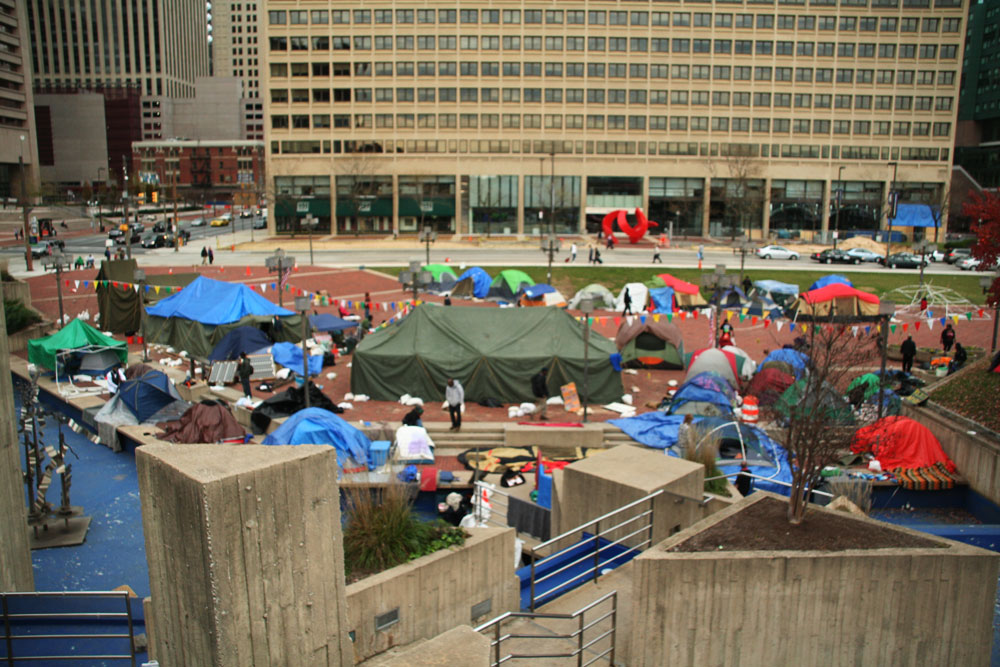 Occupy Baltimore Protests in McKeldin Plaza