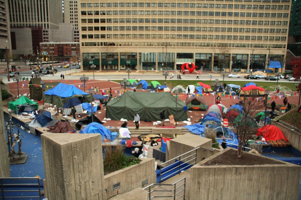 Occupy Baltimore Protests in McKeldin Plaza