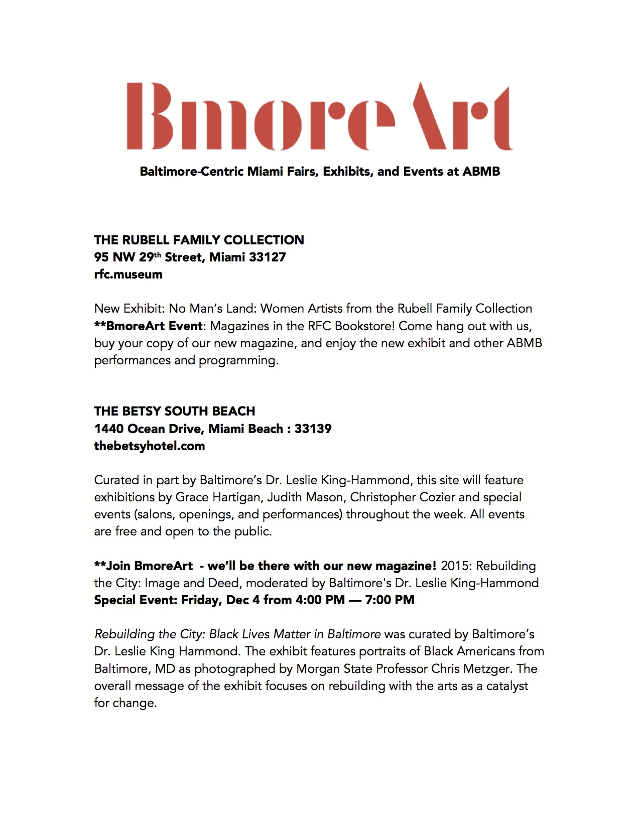 Miami Guide 2015 by BmoreArt