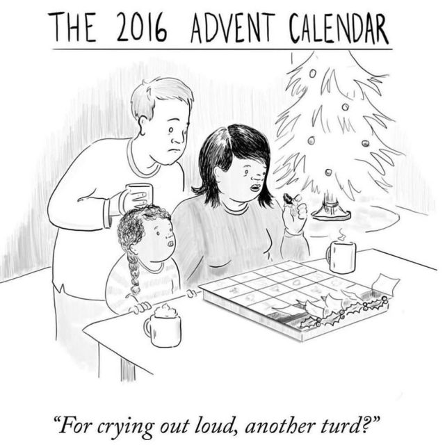 2016 Year of Turds by eflakeagogo for newyorkercartoons Emily Flakehellip
