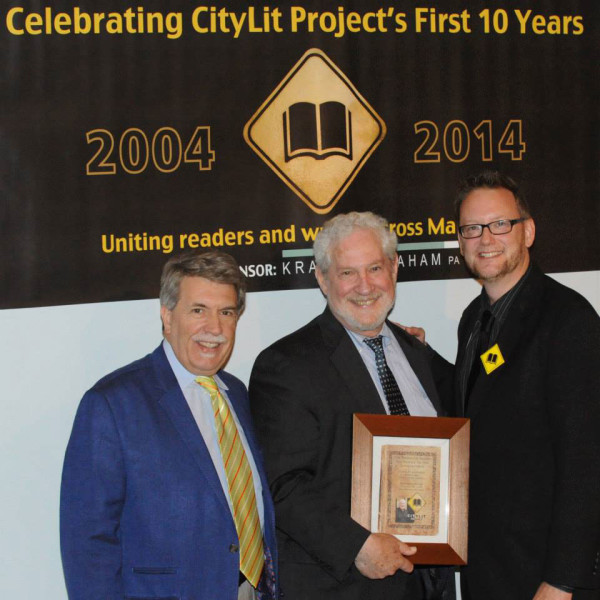 GreggWilhelm-founding-chair-Chic-Dambach-and-board-chair-Bunky-Markert-at-CityLit's-10th-anniv-1